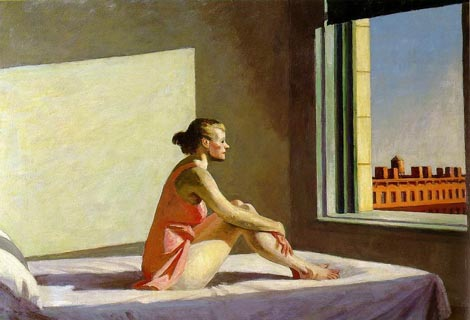 Edward Hopper, Jutaenje sunce (Morning Sun), 1952.